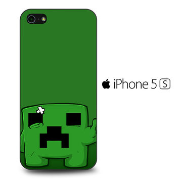 Sad Minecraft Creeper iPhone 5[S] Case