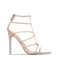 FRIDAY Nude Strappy Heels