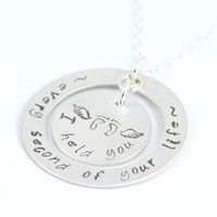 Miscarriage Necklace, Stillbirth Jewelry, Pregnancy Loss – I Held You