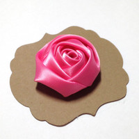Pink Satin Lapel Flower, Mens Lapel Flower, Mens Lapel Pin,Mens Boutonniere, Wedding Boutonniere, Wedding Lapel Pin