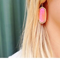 Elle Earrings in Iridescent Tangerine - Kendra Scott Jewelry