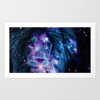 Space Lion Art Print by 2sweet4words Designs