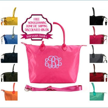 12% Off Sets of 7,8, and 9 Monogrammed Designer Like Bridesmaids Bag Gift Bundles With Free Shipping and Monogramming