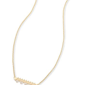 Anissa Bar Pendant Necklace in Gold | Kendra Scott