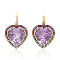 Amethyst Heart Earrings | Moda Operandi