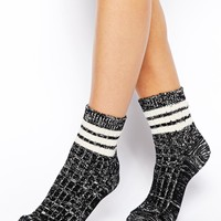 ASOS Mixed Knit Stripe Ankle Socks