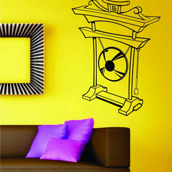 Suspended Gong Decal Sticker Japan Japanese Asian Wall Mural
