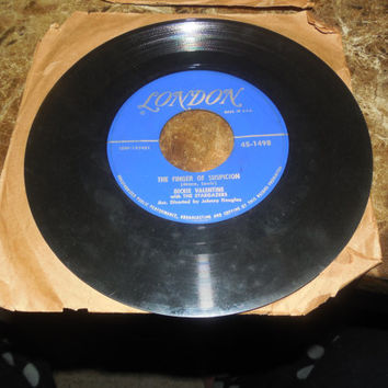 Vintage Vinyl Record 45 Dickie Valentine - Endless - The Finger Of Suspicion - 1950s