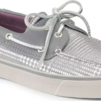 Sperry Top-Sider Bahama Sparkle 2-Eye Boat Shoe CharcoalHoundstooth, Size 5M  Women's Shoes