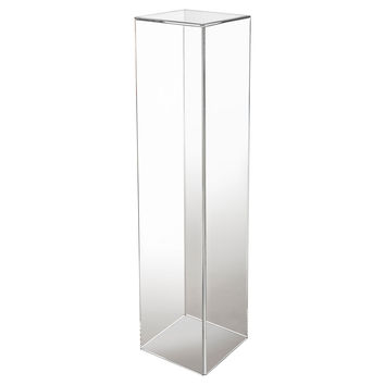 Acrylic Pedestal, Clear, Acrylic / Lucite, Plant Stands