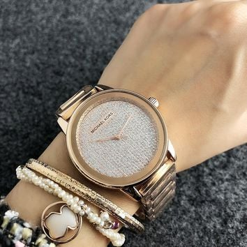MICHAEL KORS MK Woman Men Fashion Quartz Movement Simple Wristwatch Watch-2
