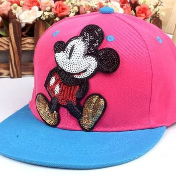 Baseball Cap Child Cartoon Mickey Casquette Snapback Gorras Planas Hip Hop Polo Hat Gr