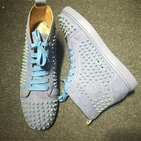Cl Christian Louboutin Louis Spikes Style #1866 Sneakers Fashion Shoes - Best Online Sale