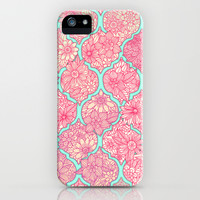 Moroccan Floral Lattice Arrangement in Pinks iPhone & iPod Case by Micklyn