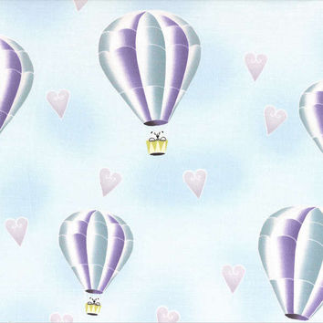 Lecien Japan Breeze Hot Air Balloon by Wenche Wolff Hatling Arctic Kiss Collection HALF YARD (45 cm)