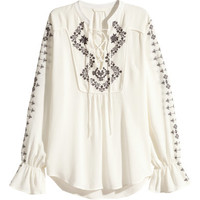 H&M Embroidered Blouse $49.99
