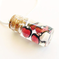 Six Pokeball Pokemon Bottle Necklace