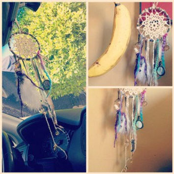 Day Dreamin' mini dream catcher by TheLittleBigShop on Etsy