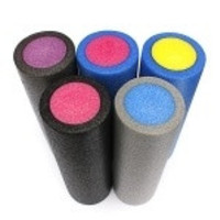 "45x14.5cm 18""x6"" Yoga Foam Roller Pilates Exercise Fitness Gym Smooth Surface = 1932559620"