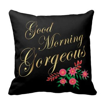 Good Morning Gorgeous | Gold Letters Pillows