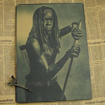The Walking Dead Michonne Vintage Look Poster