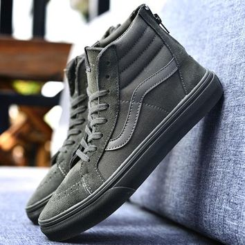 Trendsetter VANS SK8-Hi Zipper Old Skool Ankle Boots Flat Sneakers Sport Shoes