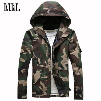 Military Camouflage Jacket Hooded Spring Cotton Army Male Camo Coats Loose Men's Windbreakers Men Tactical Jackets,UA179