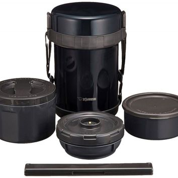 L Size Zojirushi SL-GG18-BD Stainless Thermos Food Jar Lunch Box Navy Black F/S