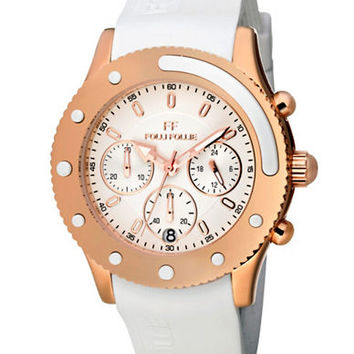 Folli Follie Ladies Water Champ Rose Gold And White Watch