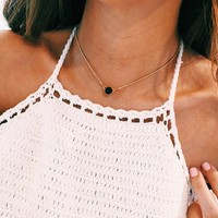 Onyx Lux Choker Necklace