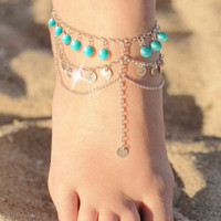 Cute Sexy Jewelry Gift New Arrival Shiny Ladies Accessory Stylish Vintage Handcrafts Tassels Anklet [6768791559]