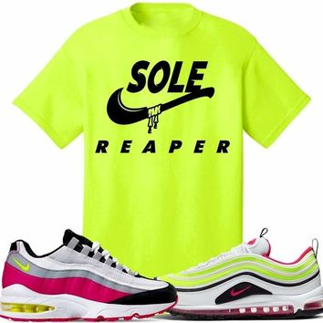 Air Max White Rush Pink Volt Sneaker Tees Shirt to Match - SOLE REAPER