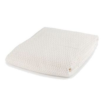 Mayoral Unisex-Baby' Ivory Knit and Fur Blanket