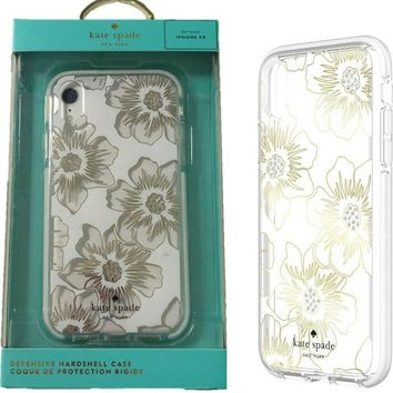 Kate Spade New York Protective Case Cover for Apple iPhone XR Hollyhock Protect