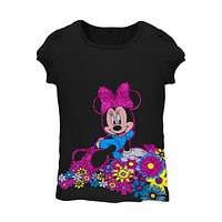 Minnie Mouse - Flower Bed Juvy Girls T-Shirt