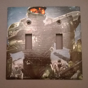 Halo double toggle light switch cover