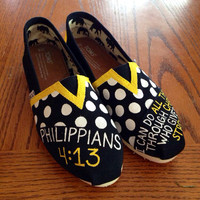 Bible Verse Toms - Painted - Christian - Customizable