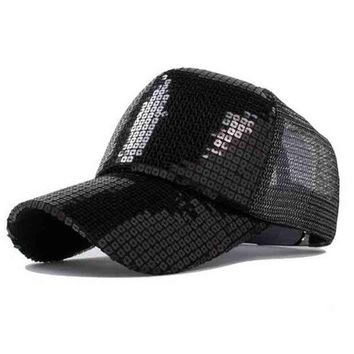 DCCKHY9 Baseball Cap simple solid color sequined cap outdoor sports  women fashion street Benn hats