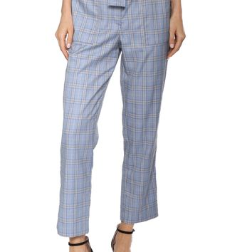 Decker Tie Front Plaid Pants