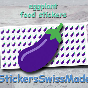 PLANNER STICKER || eggplant || food || vegetable || small colored icon | for your planner or bullet journal