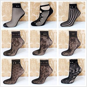 Fishnet Lace Socks