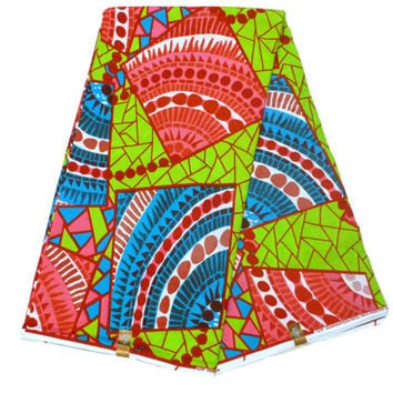 African Designer Fabric - Cotton Ankara Print - Ghanaian Dutch Wax - GTP NuStyle - Fabric by the Yard