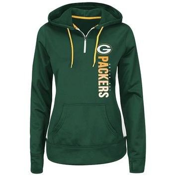 Majestic Green Bay Packers Past the Line Hoodie - Women's, Size: