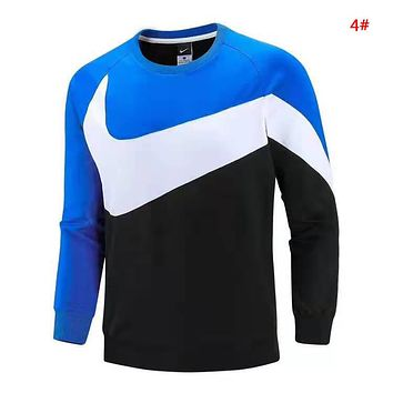 NIKE Autumn And Winter Fashion New Hook Print Men Long Sleeve Top Sweater 4#