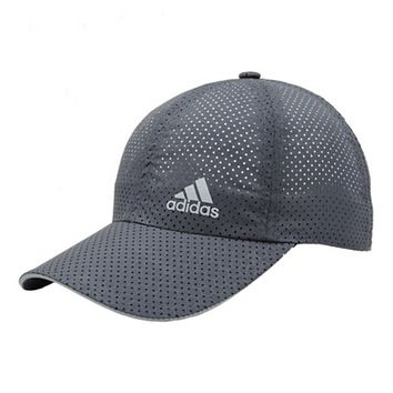 Adidas New fashion letter print mesh couple cap hat Gray