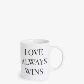 Statement mug - Love always wins - Home & gifts - Monki GB