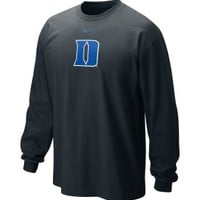 Nike Men's Duke Blue Devils Black Classic Logo Long Sleeve Shirt