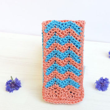Interchangeabel  Flap for Handy-, Iphone-, Smartphone Case, crocheted, Samsung Galaxy S3, S4, S5 and Iphone 5