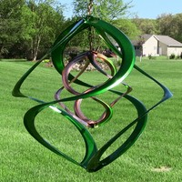 """Colored 14"""" Double Wind Spinners - 4 Colors"""