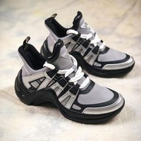 DCC3W Louis Vuitton LV Sci Fi Silver Black Sneakers